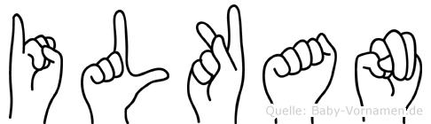 Ilkan im Fingeralphabet der Deutschen Gebärdensprache