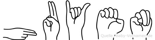 Huyen im Fingeralphabet der Deutschen Gebärdensprache