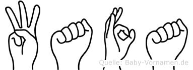 Wafa im Fingeralphabet der Deutschen Gebärdensprache