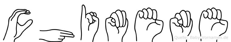 Chimene in Fingersprache für Gehörlose