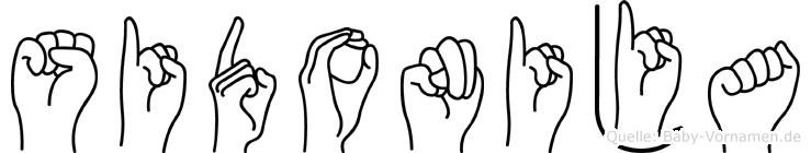 Sidonija in Fingersprache für Gehörlose