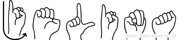 Jelina im Fingeralphabet der Deutschen Gebärdensprache