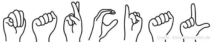 Marcial im Fingeralphabet der Deutschen Gebärdensprache