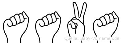 Aava in Fingersprache für Gehörlose