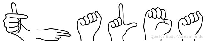 Thalea in Fingersprache für Gehörlose