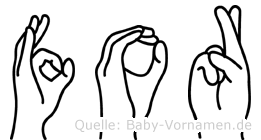 For im Fingeralphabet der Deutschen Gebärdensprache