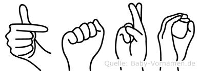 Taro in Fingersprache für Gehörlose