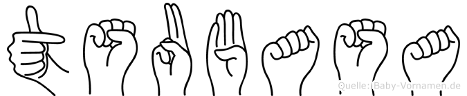 Tsubasa im Fingeralphabet der Deutschen Gebärdensprache