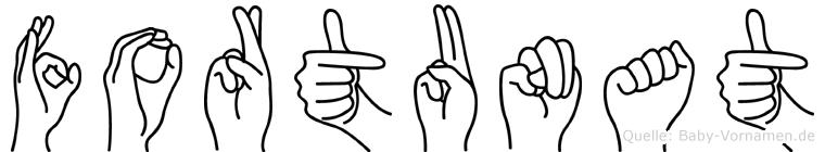 Fortunat in Fingersprache für Gehörlose
