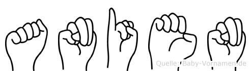 Anien im Fingeralphabet der Deutschen Gebärdensprache