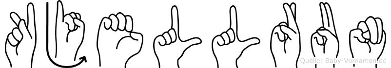 Kjellrun im Fingeralphabet der Deutschen Gebärdensprache