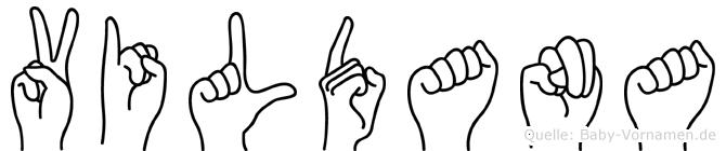 Vildana im Fingeralphabet der Deutschen Gebärdensprache