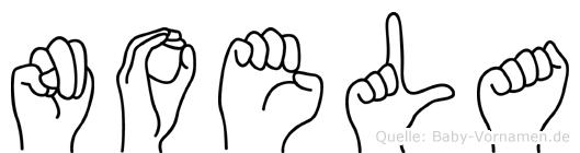 Noela in Fingersprache für Gehörlose