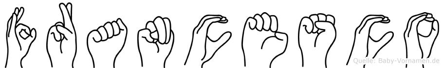 Francesco in Fingersprache für Gehörlose