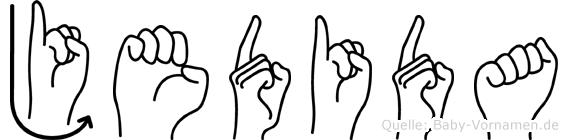 Jedida in Fingersprache für Gehörlose