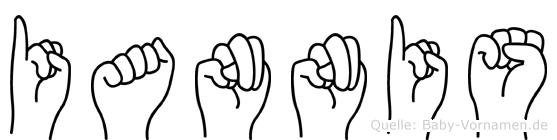 Iannis im Fingeralphabet der Deutschen Gebärdensprache