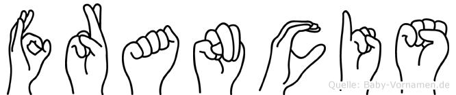 Francis im Fingeralphabet der Deutschen Gebärdensprache