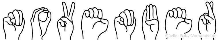 November in Fingersprache für Gehörlose