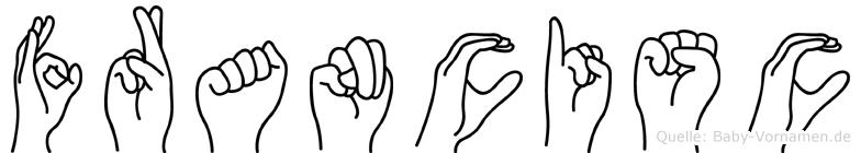 Francisc im Fingeralphabet der Deutschen Gebärdensprache