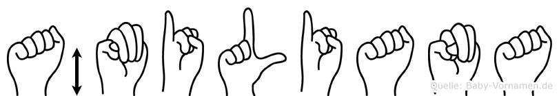 Ämiliana im Fingeralphabet der Deutschen Gebärdensprache