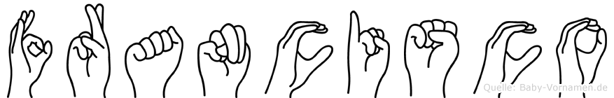 Francisco im Fingeralphabet der Deutschen Gebärdensprache