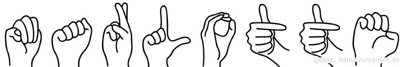 Marlotte in Fingersprache für Gehörlose