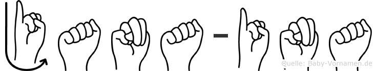 Jana-Ina im Fingeralphabet der Deutschen Gebärdensprache