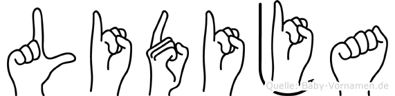 Lidija in Fingersprache für Gehörlose
