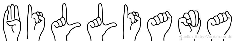 Billiana im Fingeralphabet der Deutschen Gebärdensprache