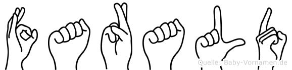 Farald im Fingeralphabet der Deutschen Gebärdensprache