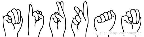 Mirkan im Fingeralphabet der Deutschen Gebärdensprache