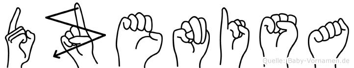 Dzenisa im Fingeralphabet der Deutschen Gebärdensprache