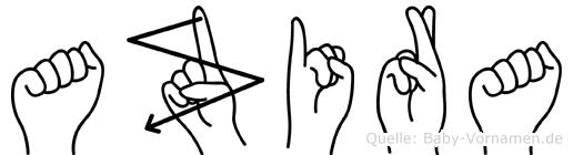 Azira in Fingersprache für Gehörlose