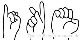 Ike in Fingersprache für Gehörlose
