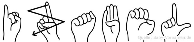 Izabel in Fingersprache für Gehörlose