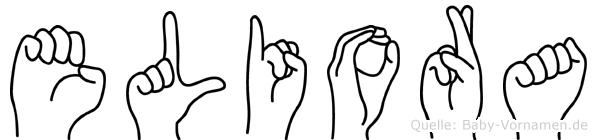 Eliora in Fingersprache für Gehörlose