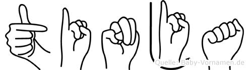 Tinja im Fingeralphabet der Deutschen Gebärdensprache