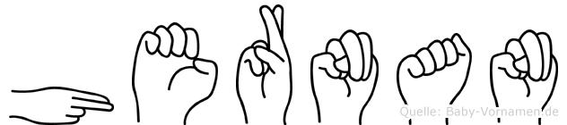Hernan in Fingersprache für Gehörlose