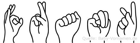 Frank in Fingersprache für Gehörlose