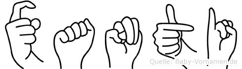Xanti in Fingersprache für Gehörlose
