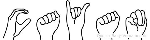 Cayan in Fingersprache für Gehörlose