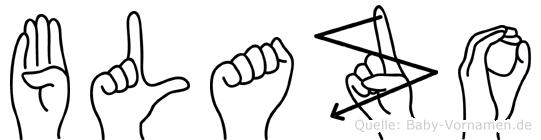 Blazo im Fingeralphabet der Deutschen Gebärdensprache