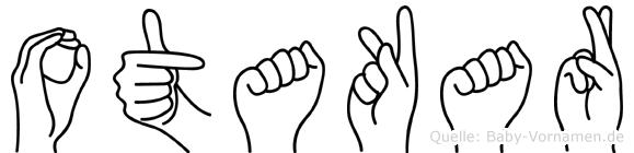 Otakar im Fingeralphabet der Deutschen Gebärdensprache