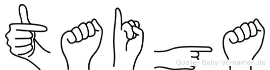 Taiga im Fingeralphabet der Deutschen Gebärdensprache
