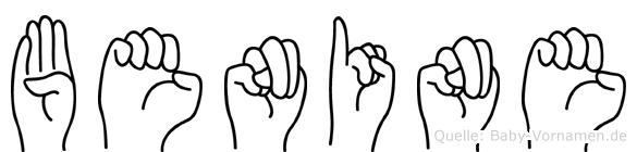 Benine im Fingeralphabet der Deutschen Gebärdensprache