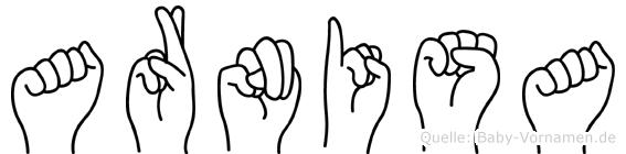 Arnisa in Fingersprache für Gehörlose