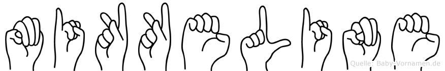 Mikkeline im Fingeralphabet der Deutschen Gebärdensprache