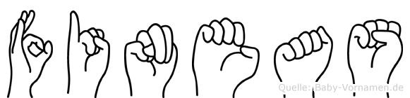 Fineas im Fingeralphabet der Deutschen Gebärdensprache