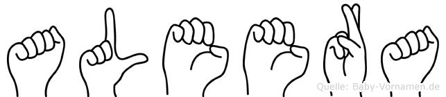 Aleera in Fingersprache für Gehörlose