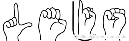Lejs in Fingersprache für Gehörlose